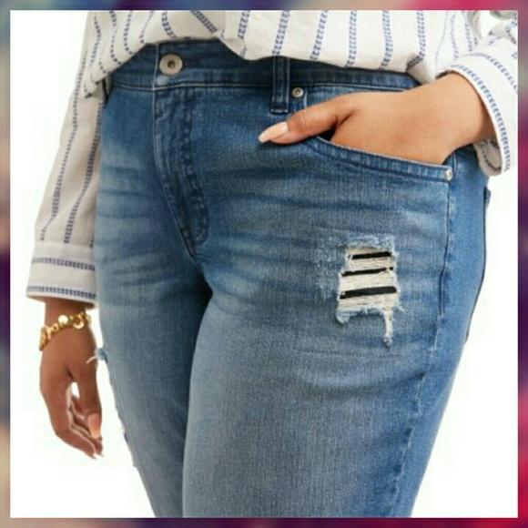 74ad4769f3 Faded Glory Jeans | Womens Plus Size Boyfriend Jean | Poshmark